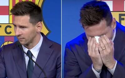 VIDEO: Messi sa so slzami v očiach lúči s FC Barcelona. Dúfa, že raz sa vráti