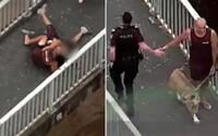 """Video: Muž na prechádzke efektívne spacifikoval utekajúceho zlodeja. Po príchode policajtov si vyslúžil """"placák"""""""