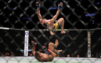 VIDEO: UFC bojovník šokoval divákov, na svojho súpera skočil salto