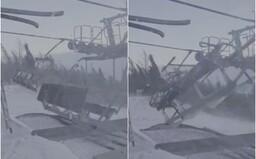 VIDEO: Větrná bouře v Tatrách házela s lanovkami, jako by byly z papíru
