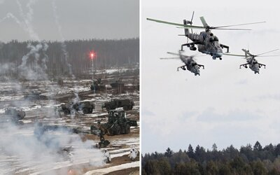 VIDEO: Vojnové hry v Rusku a Bielorusku sú v plnom prúde. Testujú tanky, lietadlá, lode aj diaľkovo ovládané roboty