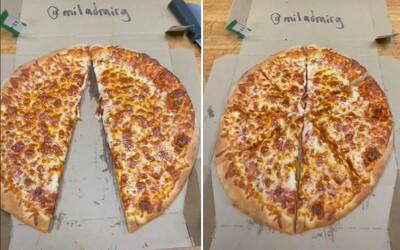 VIDEO: Zamestnanec pizzerie vo virálnom Tiktoku ukázal, ako dokáže ukradnúť kus pizze bez toho, aby si to zákazník všimol
