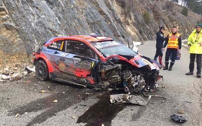 Video zaznamenává hrůzostrašnou nehodu na Rallye Monte Carlo