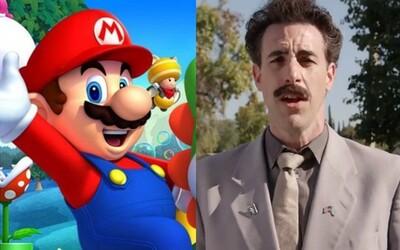 Videoherného Maria sfilmuje spoločnosť zodpovedná za Mimoňov a Sacha Baron Cohen si ako Borat strieľal z Trumpových voličov