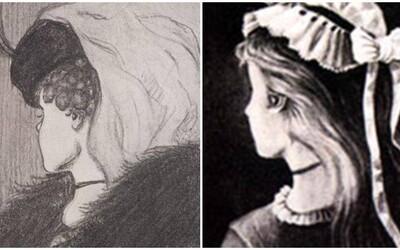Vidíš na obrázku mladou ženu či stařenu? Náš věk ovlivňuje to, jak vnímáme tuto optickou iluzi