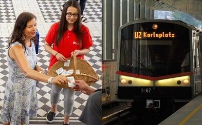 Vídeňské metro rozdalo cestujícím 14 000 deodorantů. Vysoké letní teploty dokáží vůni ve vagónech proměnit v otřesný zápach