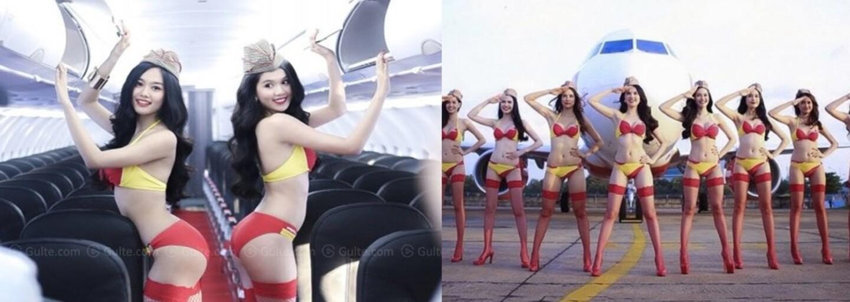 Vietnamská letecká linka je plná polonahých dievčat. Letušky v bikinách už budú obsluhovať aj lietadlá do Indie