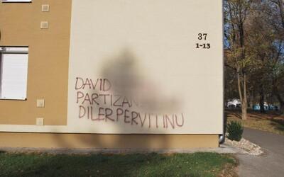 Viktora nahneval údajný díler pervitínu, jeho meno nasprejoval na budovy v Piešťanoch