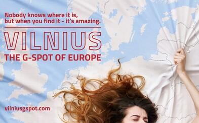 Vilnius najnovšie láka turistov na svoj bod G. Reklama s erotickým nádychom poukazuje na krásy litovského mesta