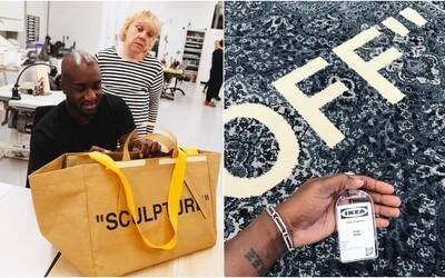 Virgil Abloh a IKEA už brzy vydají řadu bytových doplňků. Kolik bude stát Off-White polštář nebo koberec?