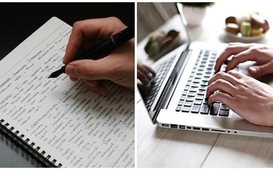 Vlastnoručne písané poznámky si pamätáme lepšie ako tie, ktoré napíšeme na počítači, tvrdia nórski vedci