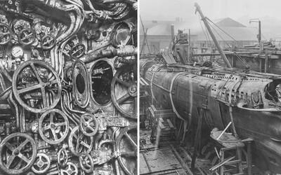 Vo vnútri nemeckej ponorky z prvej svetovej vojny. Skončila síce na dne mora, ale jej interiér zostal v pôvodnom stave
