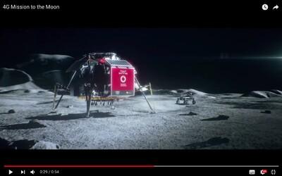 Vodafone chce na Měsíci zavést 4G signál. Bude livestreamovat z jeho povrchu