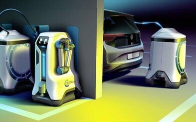 Volkswagen představil robota, který tvůj elektromobil dobije kdekoliv. Zřejmě zůstane jen ve formě vize