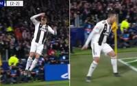 Všech 40 tisíc fanoušků sborově zakřičelo SIIIIIU, když Cristiano Ronaldo proměnil penaltu proti Atléticu Madrid