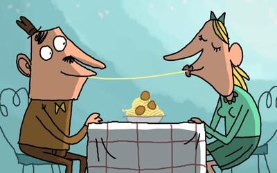 Vtipná a zejména vulgární animace ti ukáže, jak by mělo vypadat romantické rande. Jedení špaget si takto asi nepředstavuješ