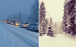 Východné Slovensko zasypali haldy snehu. Kalamitu na šmykľavých cestách striedajú rozprávkové scenérie