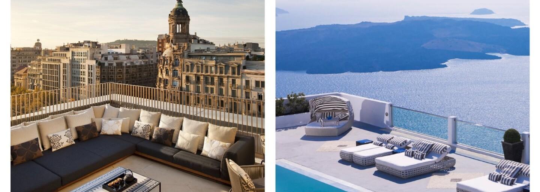 Vychutnajte si horúce letné večery z tých najkrajších hotelových terás naprieč rôznymi krajinami