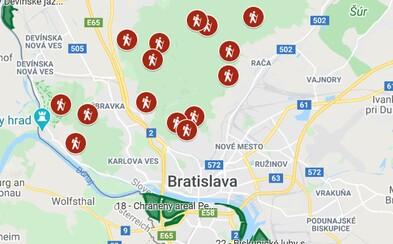 Vyhni sa davom ľudí vďaka interaktívnej mape Bratislavy. Je plná málo navštevovaných zákutí hlavného mesta