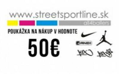 Vyhraj poukážku na nákup v StreetSportline.sk