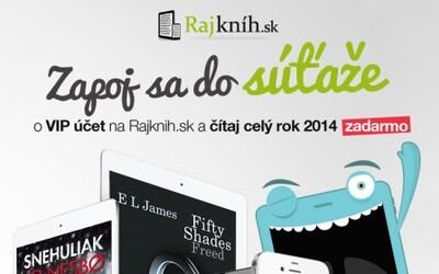 Vyhraj VIP účet na RAJKNIH.SK a čítaj celý rok 2014 zadarmo