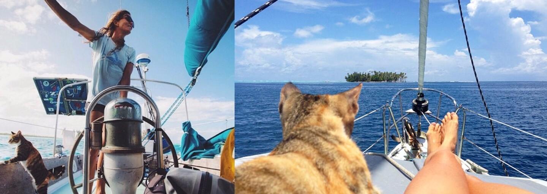 Vykašľala sa na prácu a vydala sa na plavbu po celom svete. Liz robí spoločnosť roztomilá mačka a nekonečné moria