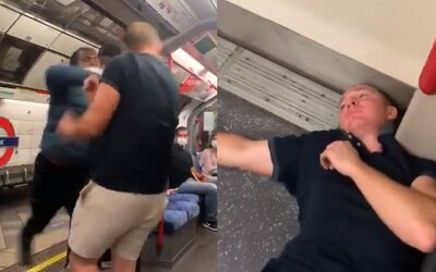 Vykrikoval rasistické urážky, tak ho jeden z cestujúcich v metre vypol. Provokujúci chlapík padol na zem ako podťatý