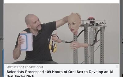 Vynálezca vytvoril dokonalý stroj na orálny sex vďaka umelej inteligencii. Zanalyzoval preto cez 108 hodín porna