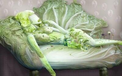 """Vynikajúce """"obrazy"""" žien vytvorené zo zeleniny"""