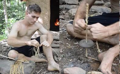 Vyrobiť vŕtačku holými rukami? Chlapík milujúci primitívne technológie by sa v divočine nestratil