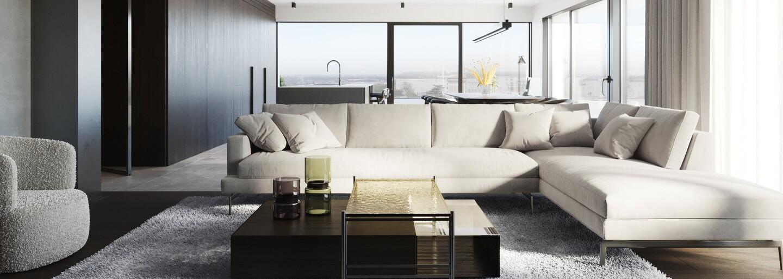 Přes 200 metrů čtverečních, kvalitní materiály a minimalismus. Představujeme bydlení snů na břehu Vltavy