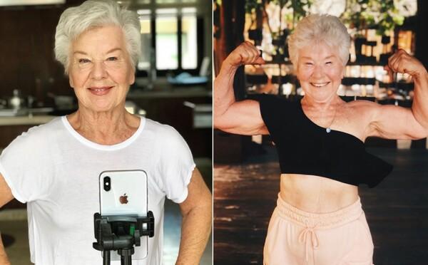 Vyše 70-ročnej babke dcéra kúpila iPhone. Vďaka nemu nabrala svaly a inšpiruje ľudí aj na Instagrame