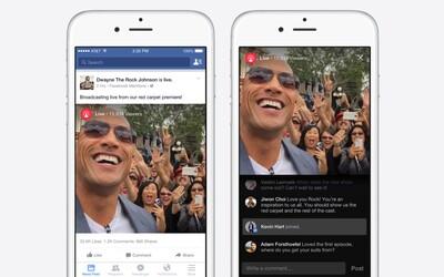Vysielaj naživo už aj na Facebooku. Sociálna sieť spustila službu Live streaming