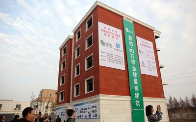 Vytisknout si obytnou pětipatrovou budovu na 3D tiskárně nepředstavuje pro Číňany žádný problém