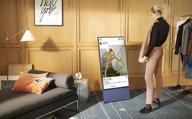 Vyzkoušeli jsme televizi, která se sama otáčí. S novinkou od Samsungu můžeš sledovat videa na výšku nebo projíždět sociální sítě