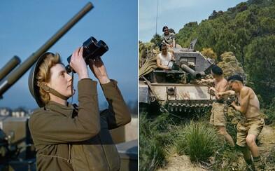 Vzácny pohľad priamo do srdca druhej svetovej vojny. Farebné fotografie uvideli svetlo sveta až po dlhých desaťročiach