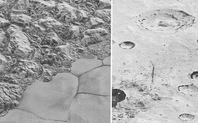 Vzdialené Pluto na detailných snímkach, kde vidno celé pohoria, ľadové pláne i krátery!