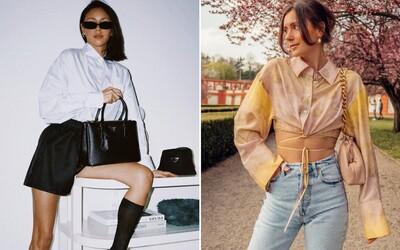 Vzorované košile, volné džíny a otevřená obuv. Češky a Slovenky předvedly v květnu outfity jako stvořené na léto