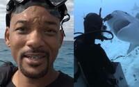 Will Smith sa plávaním so žralokmi rozhodol prekonať strach, ktorý v ňom zakorenili Spielbergove Čeľuste