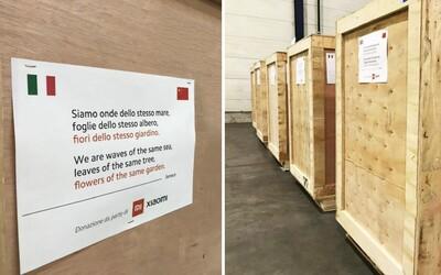 Xiaomi darovalo Itálii desítky tisíc ochranných roušek. Jsme vlny v jednom moři, tvrdí firma