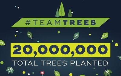 Youtuber MrBeast dosáhl svého cíle. Vybral peníze na vysazení 20 milionů nových stromů