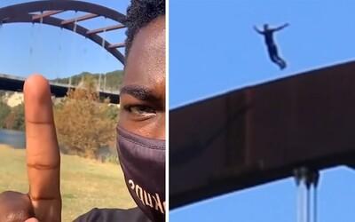 Youtuber skočil kvůli videu z mostu: Skončil v nemocnici s rozbitou lebkou