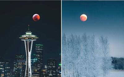 Z nádherných fotiek krvavého Mesiaca nebudeš chápať. Červené zatmenie sa udialo poslednýkrát v tomto desaťročí