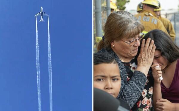 Z neba pršal letecký benzín. Lietadlo ho vypúšťalo priamo nad školami v Los Angeles