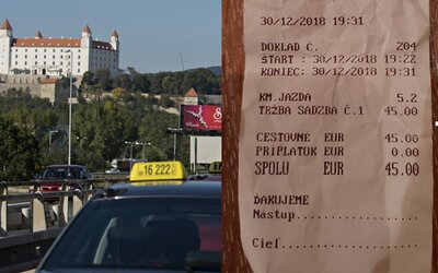 Za 9 minút v taxíku si Aladár naúčtoval 45 €. Najdrahší taxikár v Bratislave opäť zasahuje