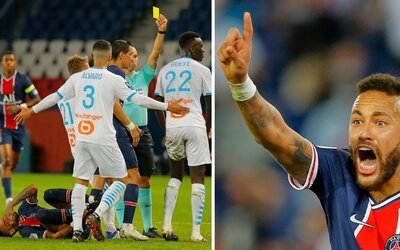 Za jednu minútu padlo 5 červených kariet, ušlo sa aj Neymarovi. Udrel protihráča, ktorý ho vraj rasisticky urážal