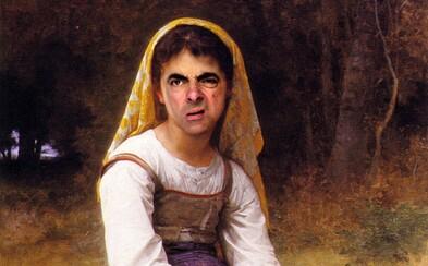 Zábavné historické portréty okorenené legendárnymi grimasami Mr. Beana