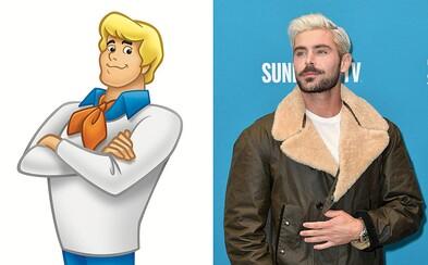 Zac Efron si zahrá Freda v novom animovanom Scooby-Doo filme. Ktorí herci stvárnia Velmu, Shaggyho a sexy Daphne?