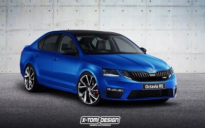 Zachrání kontroverzní design nové Octavie sportovní verze? RS by mohla vypadat takto, časem dostane až 280 koní!
