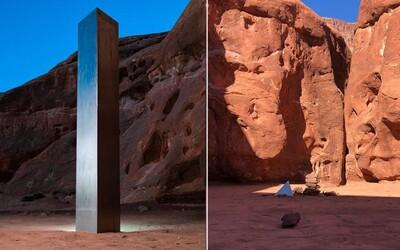 Záhadný monolit, který se objevil uprostřed pouště, zmizel
